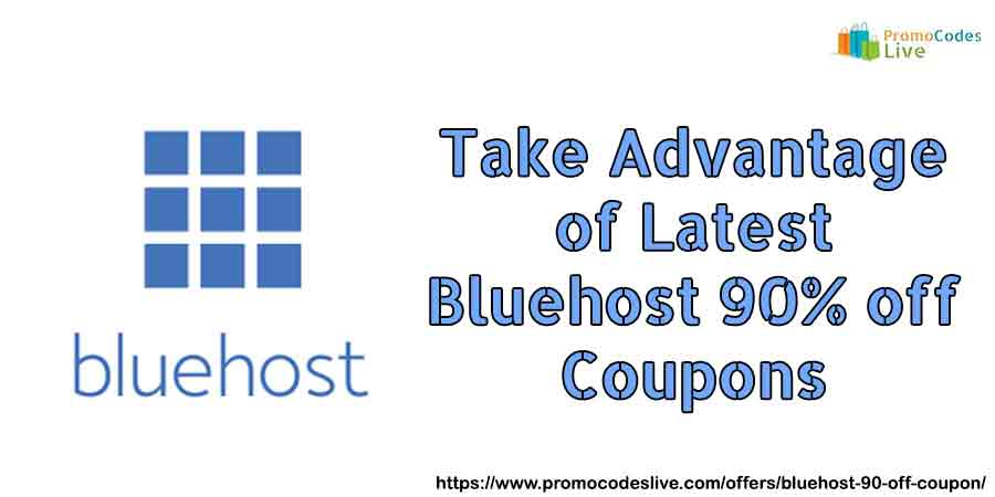 Bluehost 90% off Coupons