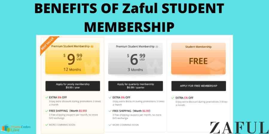 Zaful student membership price