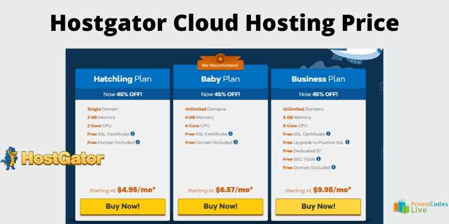 hostgator Cloud hosting plan