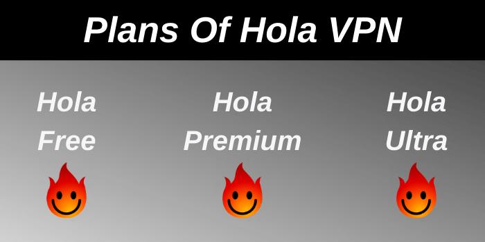 Plans of Hola VPN