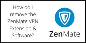 Remove Zenmate VPN